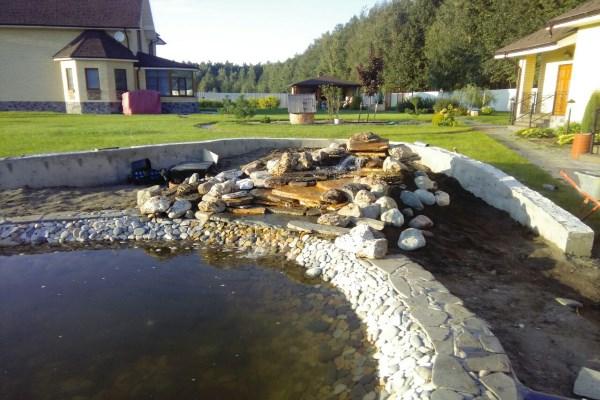 Как соорудить пруд на даче